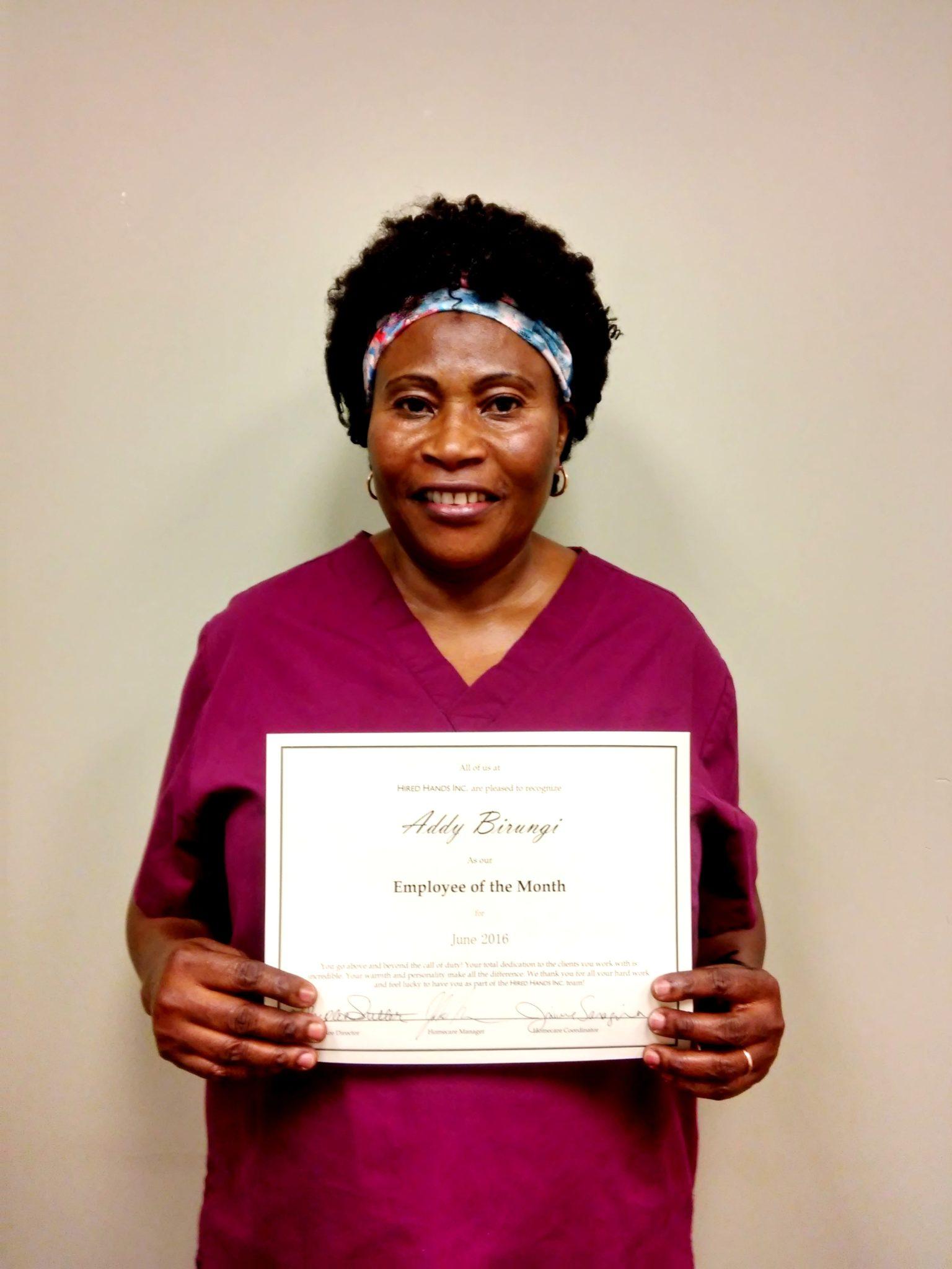 Santa Rosa's Caregiver of the Month